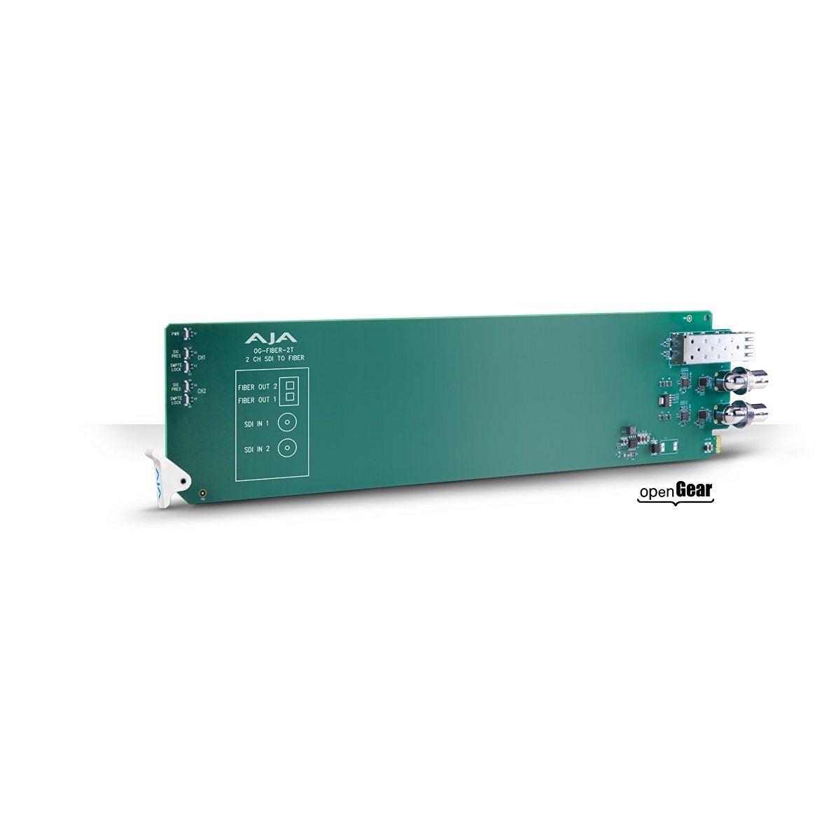 AJA OG-FIBER-2T openGear 2-channel SDI to Fiber Converter (Req 2 slots) (OG-FIBER-2T)
