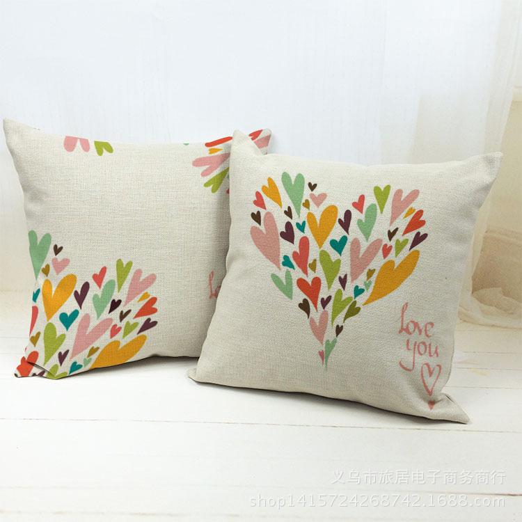 Nordic Heart Cute Decorative Throw Pillow Kussens Home Decor Cushions Coussins Decorativos Cojines Almofadas Scandinavian Pouf