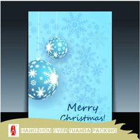Quality popular hologram christmas paper card