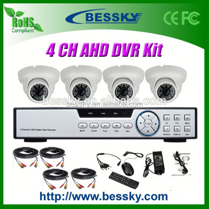 Top selling cheap AHD Dome cctv camera kit security camera Kits 720p hd camera eyewear driver