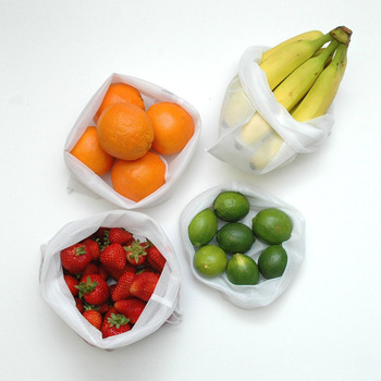 Customized Eco Friendly Reusable Mesh Produce Bags Vegetable