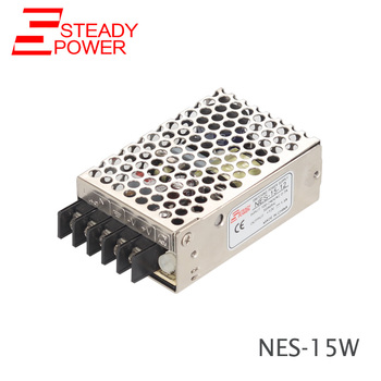 NES-15-24 CE approved mini size 15w 5v 12v 15v 24v 48v ac dc high performance switching power supply 220v power transformer