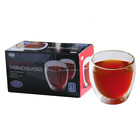 prevent cracking double wall glass cup coffee glass cup