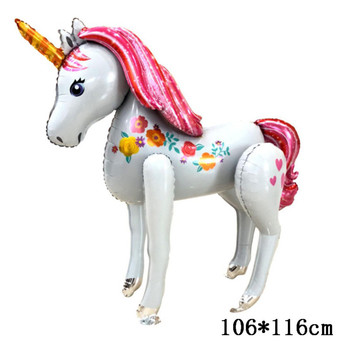 Big Size Pink Unicorn Shaped Foil Balloon 3d Stand Unicorn For Baby Shower  Birthday Party Decorations - Buy Cartoon Unicorn Balloon,3d Unicorn
