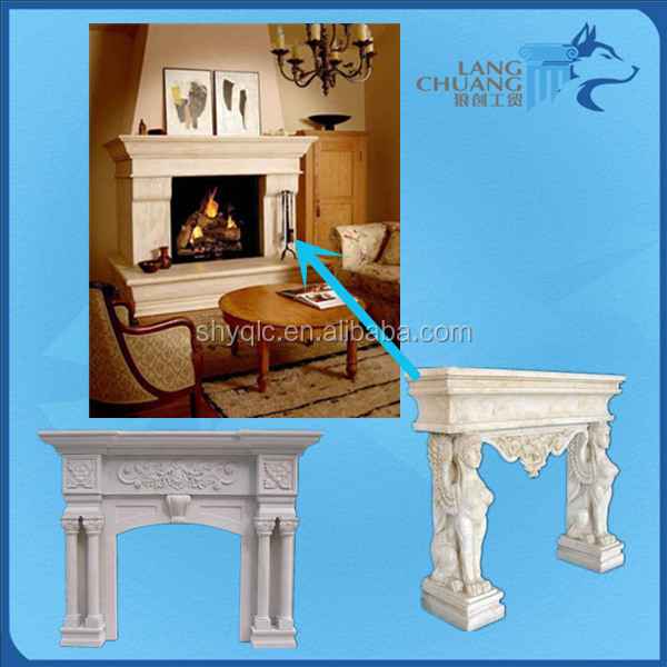 Yinqiao Brand Strong and Durability Gypsum Chimneypiece/Mantels/Shelves