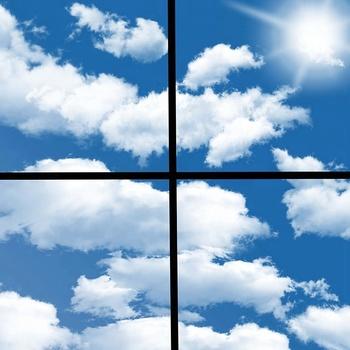 Faux Led Skylight Decorative Light Panels 120x60 Luminous Sky Ceiling