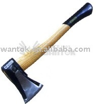 Japanese type axe with wooden handle