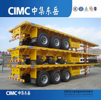 CIMC 40ft Container Truck Semi Trailer 3 Axle Flatbed Semi-Trailer For Sale