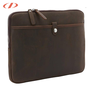 Slim leather laptop bag custom logo laptop case leather vintage