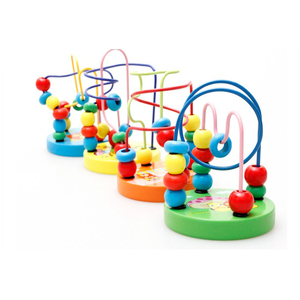 Baby early educational toys wooden bead maze game for wholesale