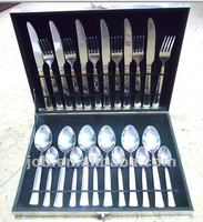 Gift box 24 piece foldable cutlery set