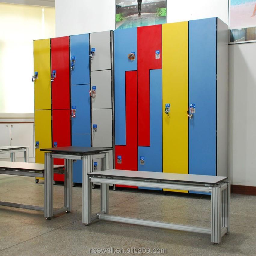 Modern gym locker room anti rusty solid phenolic compact laminate