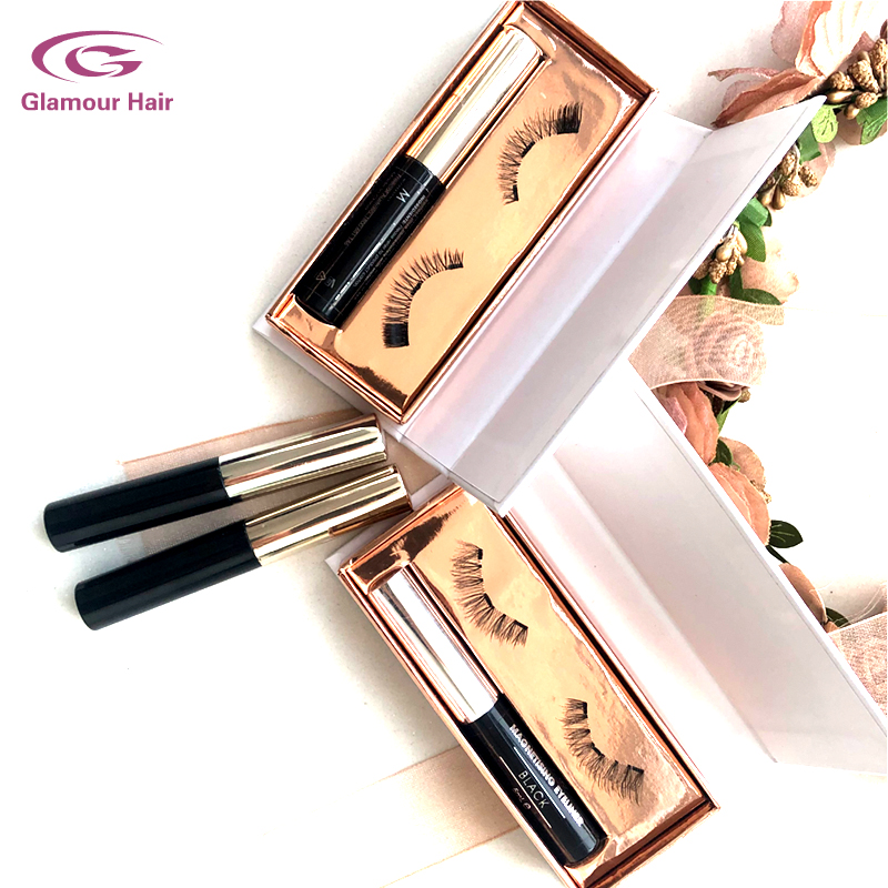 Luxury private label Environmentally magnetic eyelash and magnetic liquid eyeliner package