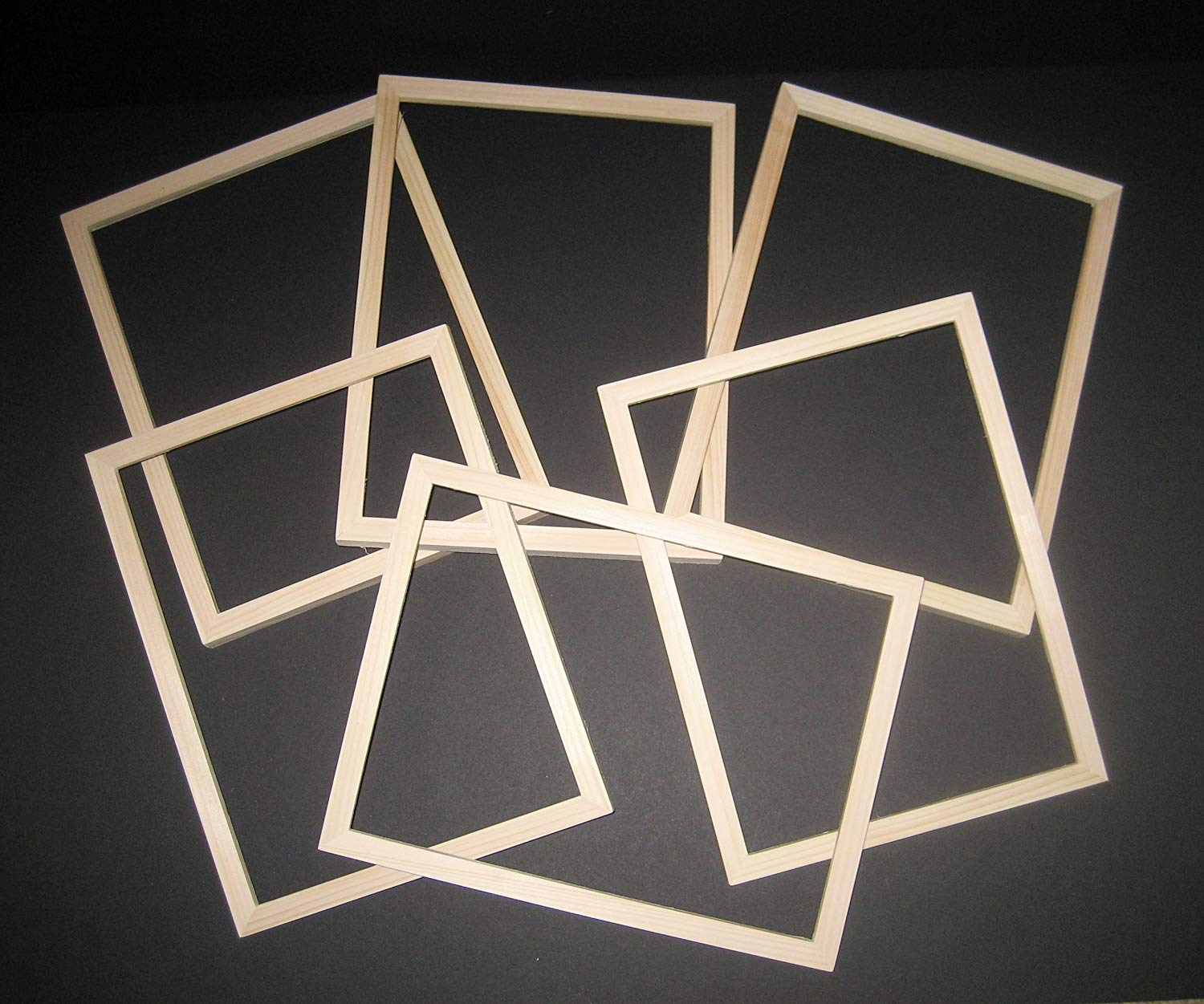 """Unfinished wood picture frames in lots of 6 in 5/8"""" wide moulding 8x8, 8x10, or 9x12"""