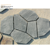 Decorative Natural Black Slate Stone Flagstone Paver Flooring Tiles FM-0618
