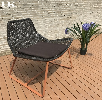 2019 China imported high quality waterproof garden line cafe hotel outdoor rattan wicker chair