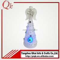 decoration frost glass angel with different size and cheap price