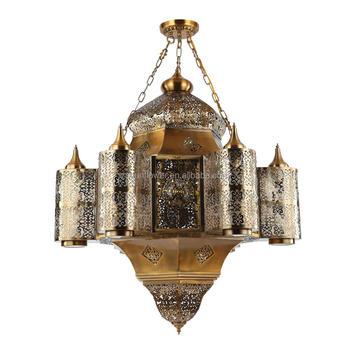 Arabian Chandelier Antique Brass Color Islam Pendant Lighting - Buy ...