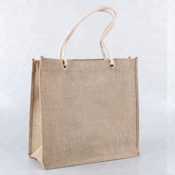 Wholesale Eco Friendly Custom Jute Bag Shopping Bag With Cotton