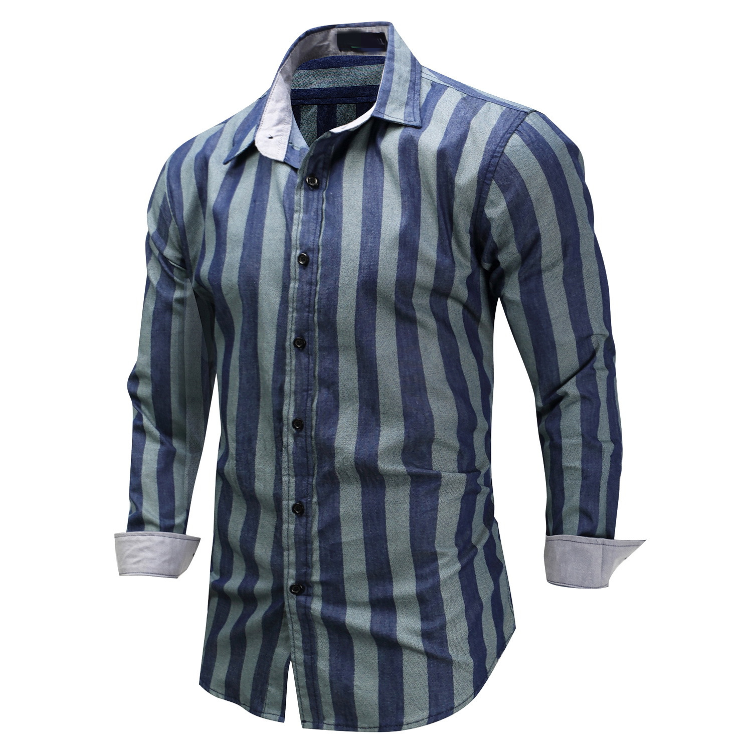 2019 Wholesale 100% cotton long sleeve and vertical stripe <strong>shirt</strong> with high quality