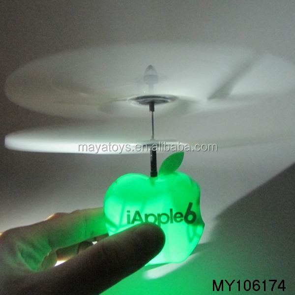 electronic toy led flying toys musical and flash toy (IAPPLE green and red)