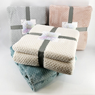 Plush flannel fleece blanket Solid color soft bedding throw