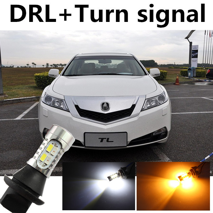 For Acura 2009 2013 TL T20 WY21W DRL Daytime Running Light