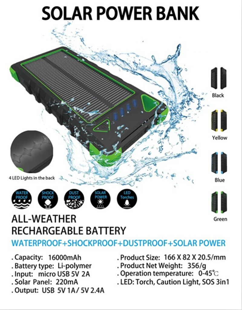 2016 Trend Wrist Band Power Bank 16000mah Ban Waterproof Solar Solarpanelpoweredbatterychargercircuitdiagram Charger