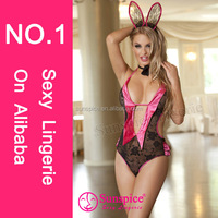 2015Newest High quality hot sales easter costume teen girls sexy lingerie easter bunny cat costume