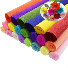 DIY Decoration handwork Premium Colored Crepe Paper Custom Logo Printed Tissue Paper