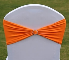spandex chair sash with buckle