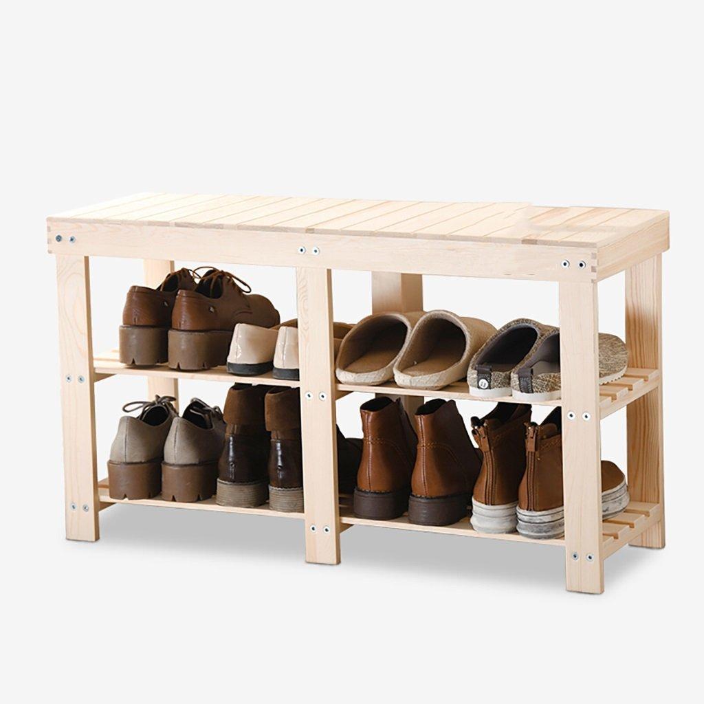 AJZGF Modern shoe racks, solid wood shoe racks, storage shelves, multi-storey shelves - Shelf shoes (Color : 90cm)