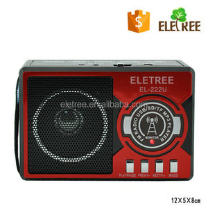 Micro USB FM Radio Receiver With SD/TF/USB MP3 Player,LED Light And Digital Display EL-222U
