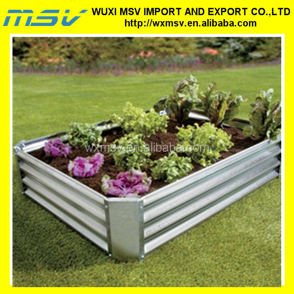 corrugated zinc sheet metal planters