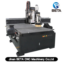 ATC CNC router machine with boring head 9 vertical 4 horizontal drilling 2 saws