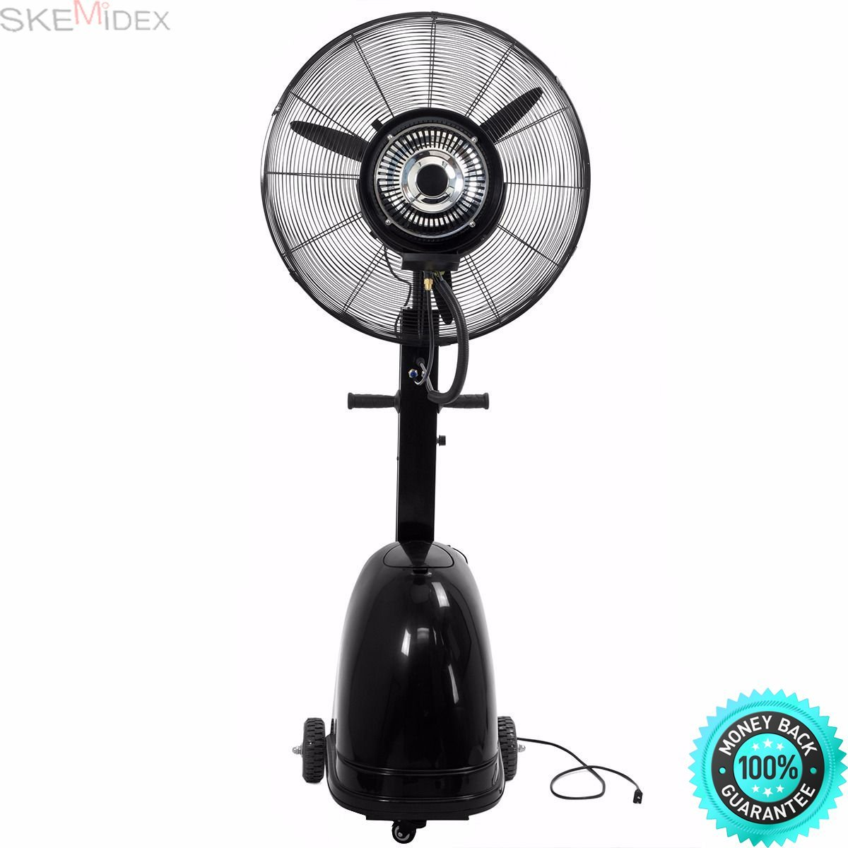 """SKEMIDEX Commercial 26"""" High-Velocity Outdoor indoor Misting Fan Black Industrial Cool And home depot portable fans box fans lowes fans tower fans fans at home depot fans ceiling portable fan tower"""