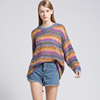 New and Hot wholesale price mohair sweater loose long knit women hand knitted sweater