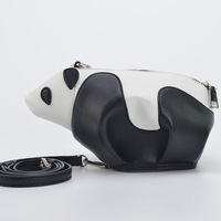 New 2019 Fashion Individual Animal Shape Contract Color Street Photographing Posing Essential Messenger Mini Shoulder Panda Bag