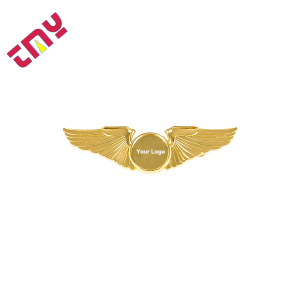 Custom Safety Soft Enamel Blank Metal Pilot Wings Suit Lapel Pin Badge With Your Own Design Manufacturer Wholesale