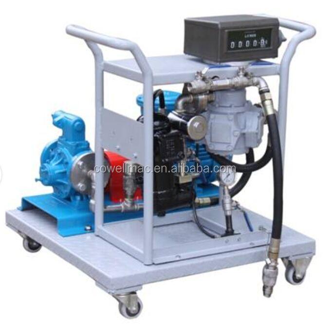 Mobile lpg filling station pump set