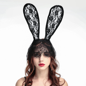Glamorous sexy veil headband creative rabbit ear dance Headband DT002