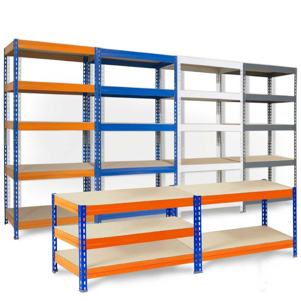 Wholesale metal boltless storage warehouse shelving unit