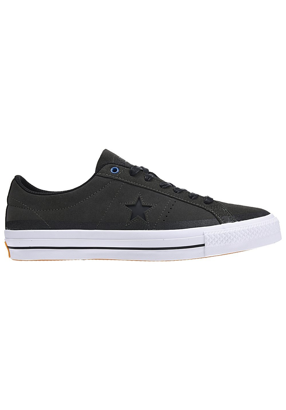 e3dbcbc26884eb Get Quotations · Converse One Star Pro Suede 90 s Color Ox Cast Iron Black  White Lace up