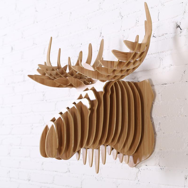 Caribou En Bois Decoration