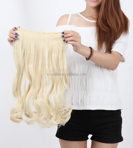 17'' low price wholesale synthetic hair extension clip in for braiding