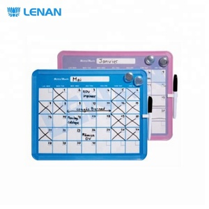 Customized colorful magnetic planner weekly printing whiteboard with PVC frame