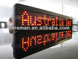 hub12,hub08 running message text led display board, p10 p4 single color led text sign