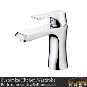 sanitary ware from china factory basin brass deck mounted bathroom faucet tap