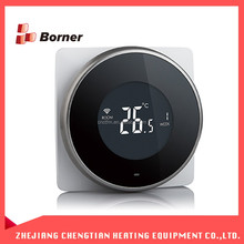 Black newest style LCD digital floor water heating Wireless WIFI thermostat