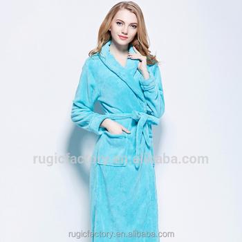 Luxury Womens Full Length Fleece Bath Robe Dressing Gown - Buy ...